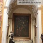 Cappella n. 8 - Giovan Battista Caracciolo detto Battistello - Sacra Famiglia con l'Eterno sorretto dagli angeli (Trinitas terrestris)
