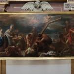 Altare Maggiore - Luca Giordano, Invenzione della Croce