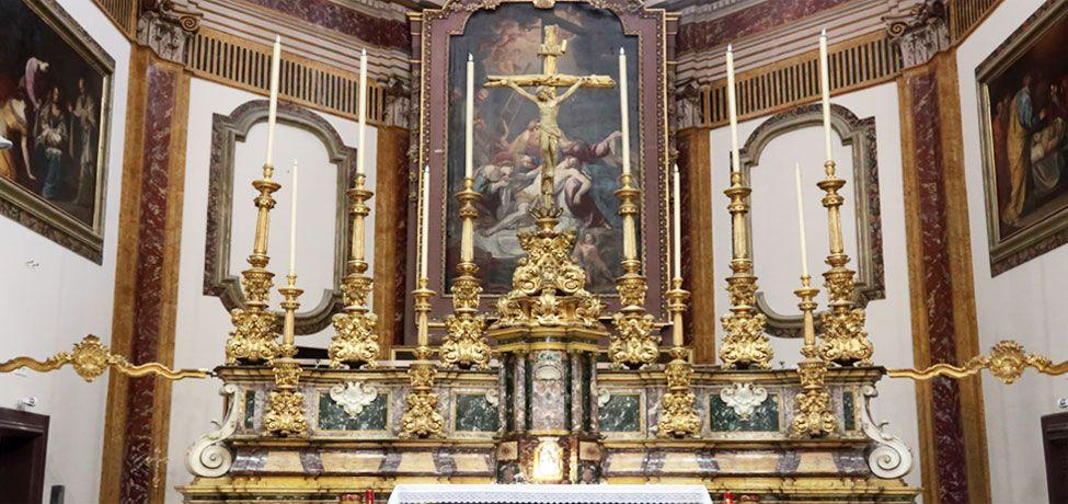 Chiesa Pietà dei Turchini - Particolare dell'altare