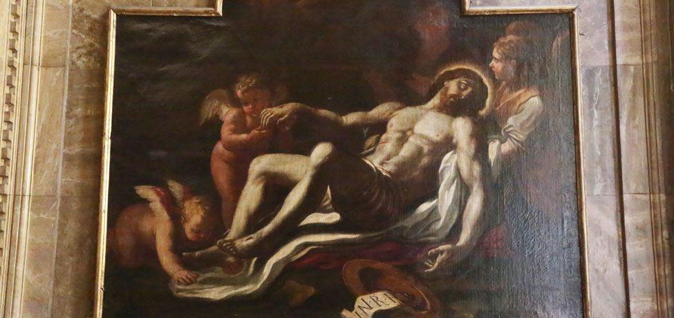 Crescenzo Gamba - Cristo morto sorretto dagli angeli